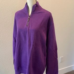 Tommy Bahama men's half zip sweater